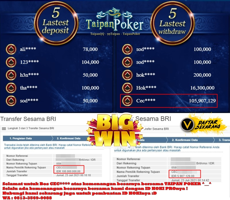 Bersama Taipan Poker